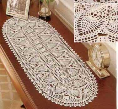 Crochet chemin table for Chemin de table crochet